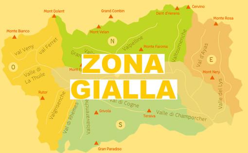 Valle d'Aosta 'sospesa' tra zone arancione e gialla
