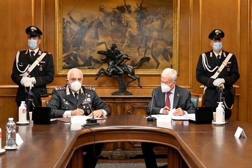 Comandante carabinieri Luzi e presidente Sangalli