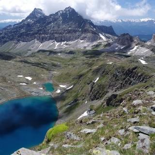 Il Vallone di Cime Bianche con il Gran Lago
