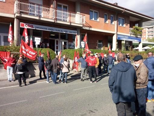 Il presidio ad Aosta
