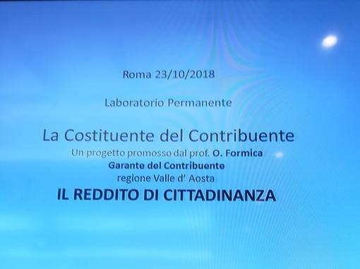 IL REDDITO DI CITTADINANZA:  IL PARERE  DEL PROF. FORMICA A ROMA