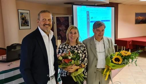 Jean Dondeynaz, Alessia Démé e Corrado Fosson a destra