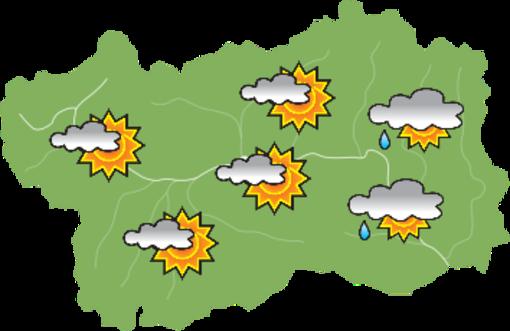 Previsti piogge e temporali nel fine settimana