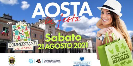 """Sabato 21 agosto appuntamento con """"Aosta in Festa con Commercianti in Festa"""""""