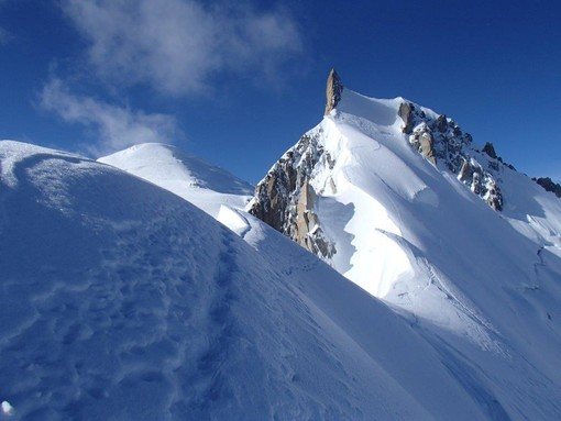 La Cresta Kuffner sul Mont Maudit