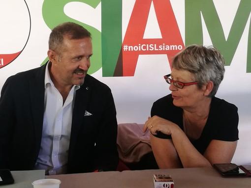 Annamaria Furlan e Jean Dondeynaz, segretario generale Cisl VdA