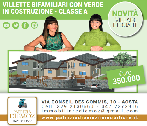 CASA SUBITO IN VALLE D'AOSTA: Ville di prossima realizzazione in vendita a Quart, fr. Champeille
