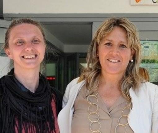 La Sovrintendente regionale agli Studi, Marina Fey e l'assessora regionale all'Istruzione, Chantal Certan
