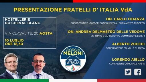 Venerdì Fratelli d'Italia si presenta ai valdostani