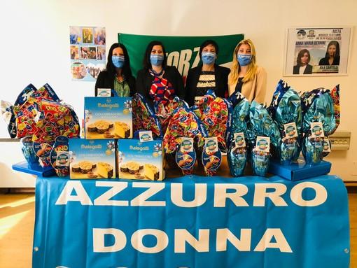 Azzurro Donna, Uova e colombe pasquali all'ospedale Beauregard