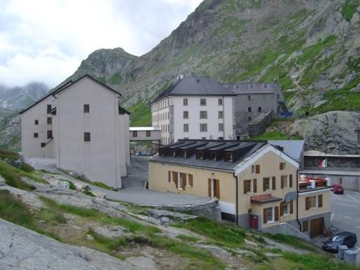 Le Grand San Bernard, la frontière Suisse entre Valais et Vallée d'Aoste
