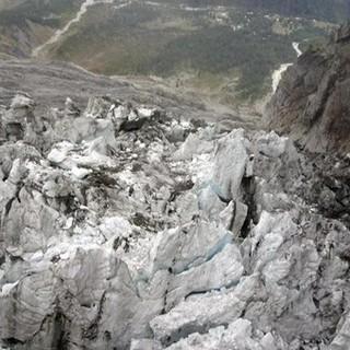 Una porzione del ghiacciaio di Planpincieux