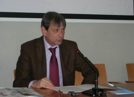 Bruno Giordano nel 2014, quando era sindaco di Aosta (foto di archivio)