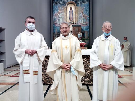 Da sinistra Padre Gregorio, il Provinciale Padre Gennato e Padre Luigino