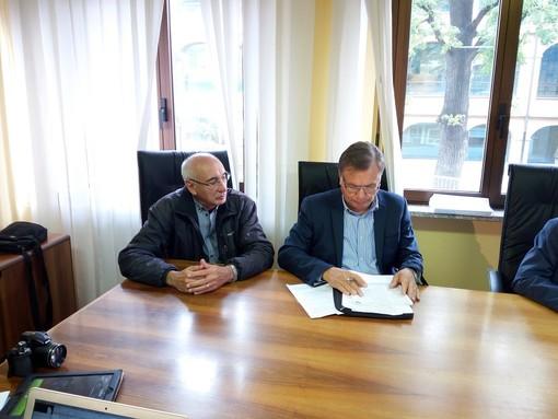 Da sn: Michele Chicherchia e Alfredo Massai (vice pers e pres. CTA), Ernesto Demarie e Alessandro Cama (pres. e direttore Jb Festaz)