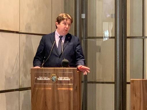 Il Presidente della Giunta, Erik Lavevaz