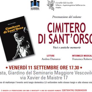 Un nuovo libro per celebrare la storia del Cimitero di Sant'Orso