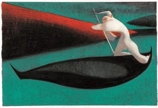 Un'opera di Lorenzo Mattotti in mostra a Morgex