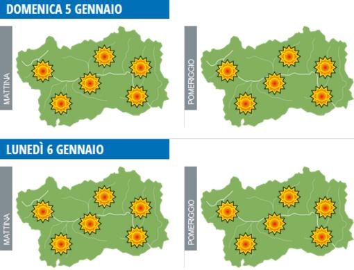 Infografica Centro Funzionale Meteo Valle d'Aosta