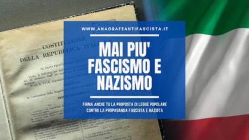 Anche in Valle d'Aosta si può firmare per la legge popolare contro il fascismo