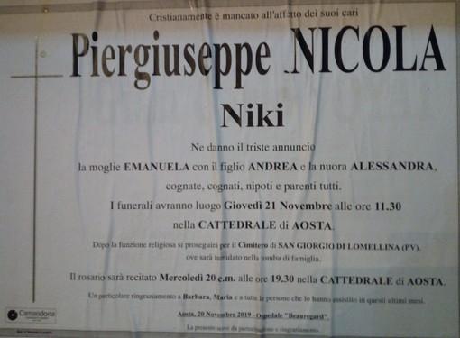 Addio al farmacista Pier Giuseppe Nicola