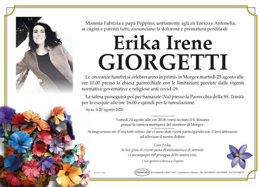 Lutti: Ayas e Morgex piangono la scomparsa di Erika Giorgetti