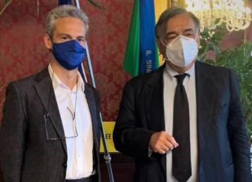 Gianni Nuti e Leoluca Orlando (foto Comune di Palermo)