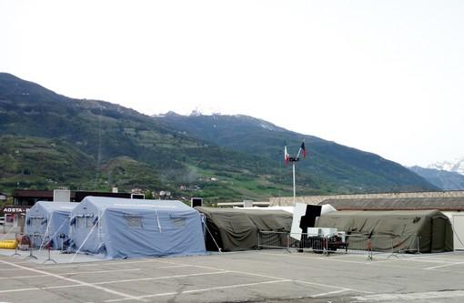 I tamponi saranno effettuati nell'ospedale da campo di Aosta
