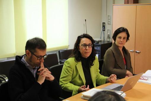 Alex Glarey, Daria Pulz e Carola Carpinello nel corso della conferenza stampa