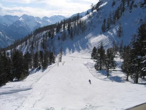La pista di sci di Weissmatten