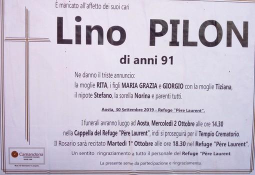 Lino Pilon, storico commerciante di Aosta ci ha lasciati