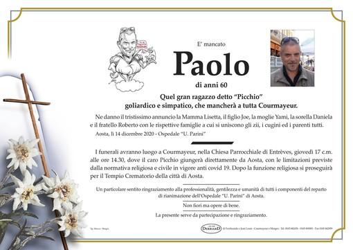 Courmayeur piange la morte di Paolo 'Picchio' Picchiottino