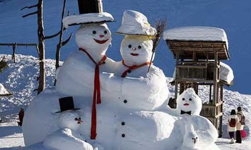 Per questo inverni la neve si userà ancora per fare pupazzi