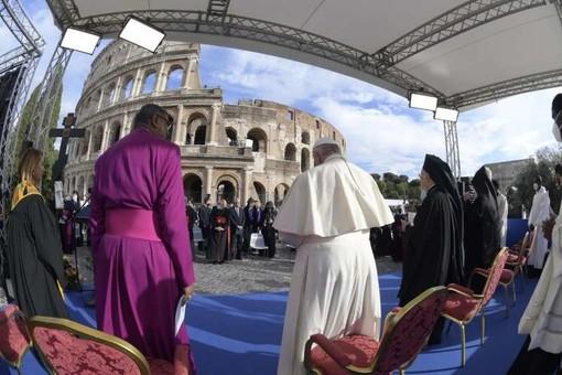 Papa Francesco all'evento Popoli fratelli, terra futura