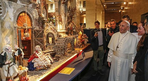 PAPA: Visita alla mostra «100 Presepi in Vaticano»