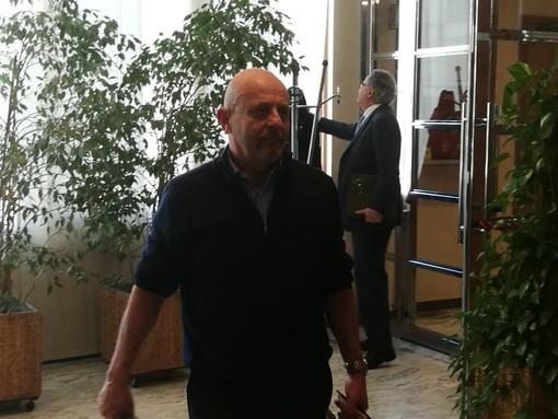 L'ad del Casino, Filippo Rolando,  esce dalla Sala commissioni a Palazzo regionale