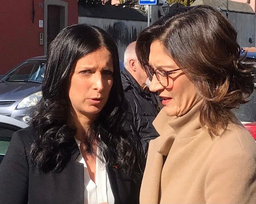 A sn Emily Rini insieme alla ministra delle Autonomie e delle Regioni, Maria Stella Gelmini
