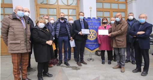 Al Père Laurent e al JB Festaz aiuti da Rotary Club Aosta