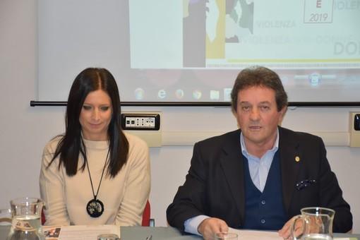 Emily Rini e Mauro Baccega durante la presentazione delle iniziative