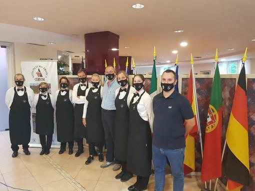 La squadra dei sommeillers dell'Ais  VdA alle degustazioni del Mondial