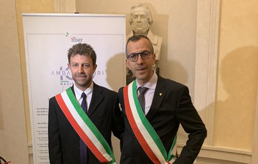 Il Sindaco di Fenis, Mattia Nicoletta, e di Saint Rhémy en Bosses, Corrado Jordan