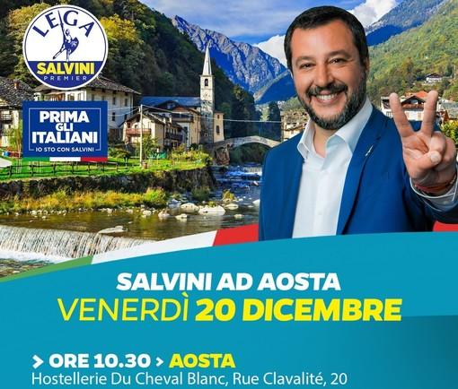 Salvini annuncia la venuta in Valle