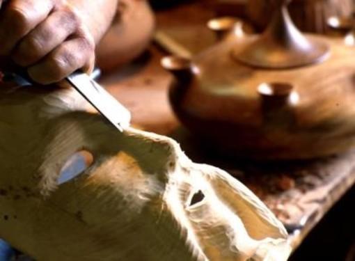 De retour à Aosta 'Sculpture en direct' et 'Artisanat en place'