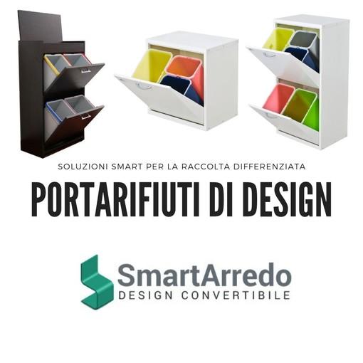 Fare la differenziata con stile, arredare con i mobili Smart Arredo per la raccolta dei rifiuti
