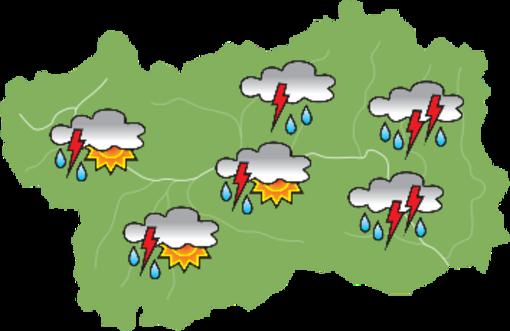 Allerta 'gialla' per temporali sulla Valle