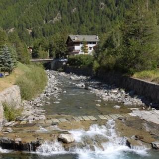 Un tratto del torrente Urthier