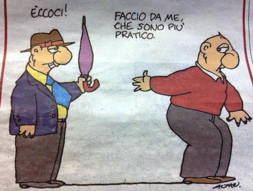 Una delle tante vignette di Altan che può rappresentare con crudele realtà lo stato d'animo di tanti lavoratori