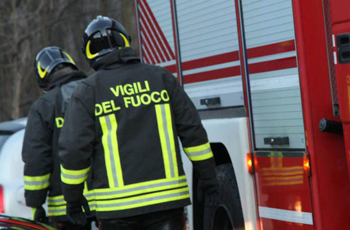 Incendio in alloggio in piazza Roncas ad Aosta
