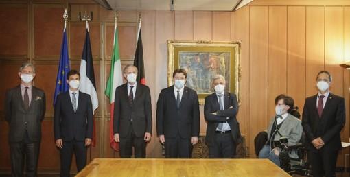 Visite à Aoste de l'ambassadeur de France en Italie,  monsieur Christian Masset