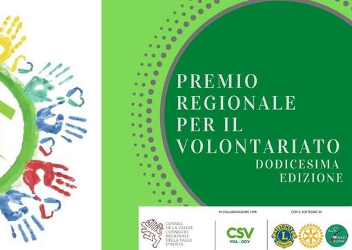 Dodicesima edizione del Premio regionale per il volontariato